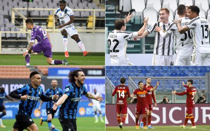 Serie A 30ma giornata, vincono tutte le big: video, gol e highlights