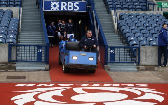 File photo dated 11-02-2011 of Scotland coach Massimo Cuttitta . Issue date: Monday April 12, 2021.