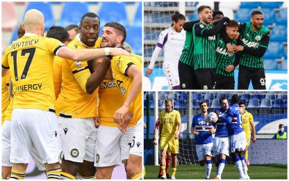 Serie A: vincono Sampdoria, Udinese e Sassuolo. Video e highlights