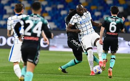 Serie A, Napoli-Inter 1-1: tabellino e aggiornamenti in diretta