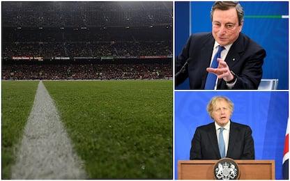 Calcio, nasce la Superlega: da Draghi a Johnson, tutte le reazioni
