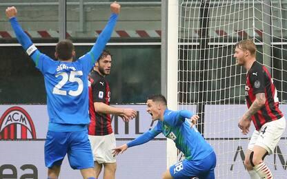 Serie A, 32a giornata: Milan ko. Juve-Parma 3-1, Spezia-Inter 1-1.LIVE