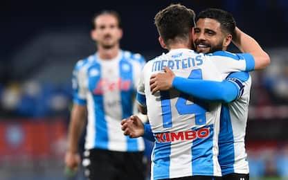 Serie A, 32ma giornata: Napoli travolge Lazio, pari in Atalanta-Roma