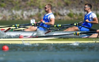 MONDELLI Filippo RAMBALDI Luca of Italy compete in the Men's Double Sculls during the 2017 European Rowing Championships on May 27, 2017 in Racine, Czech Republic. (Photo by Lukasz Laskowski / PressFocus)