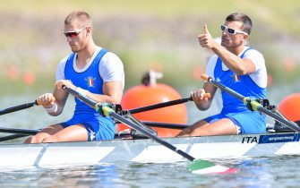 MONDELLI Filippo RAMBALDI Luca of Italy compete in the Men's Double Sculls during the 2017 European Rowing Championships on May 26, 2017 in Racine, Czech Republic. (Photo by Lukasz Laskowski / PressFocus)