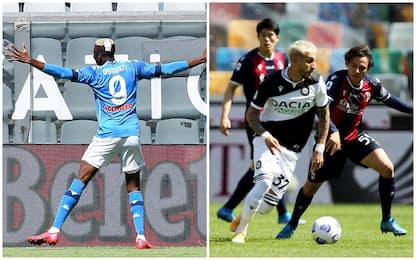 Serie A, Spezia-Napoli 1-4 e Udinese-Bologna 1-1: gol e highlights