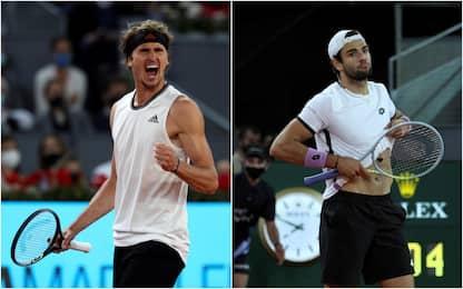 Tennis, Berrettini si arrende in finale. A Zverev il torneo di Madrid