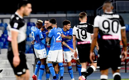 Serie A, Napoli-Udinese 5-1: video, gol e highlights