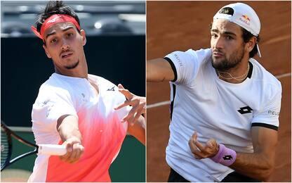 Internazionali tennis Roma, Sonego e Berrettini volano agli ottavi