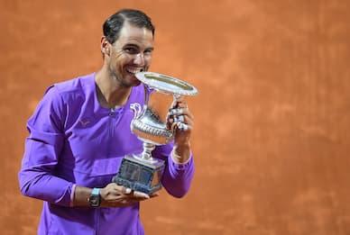 Internazionali tennis Roma, trionfa Nadal: Djokovic battuto in finale
