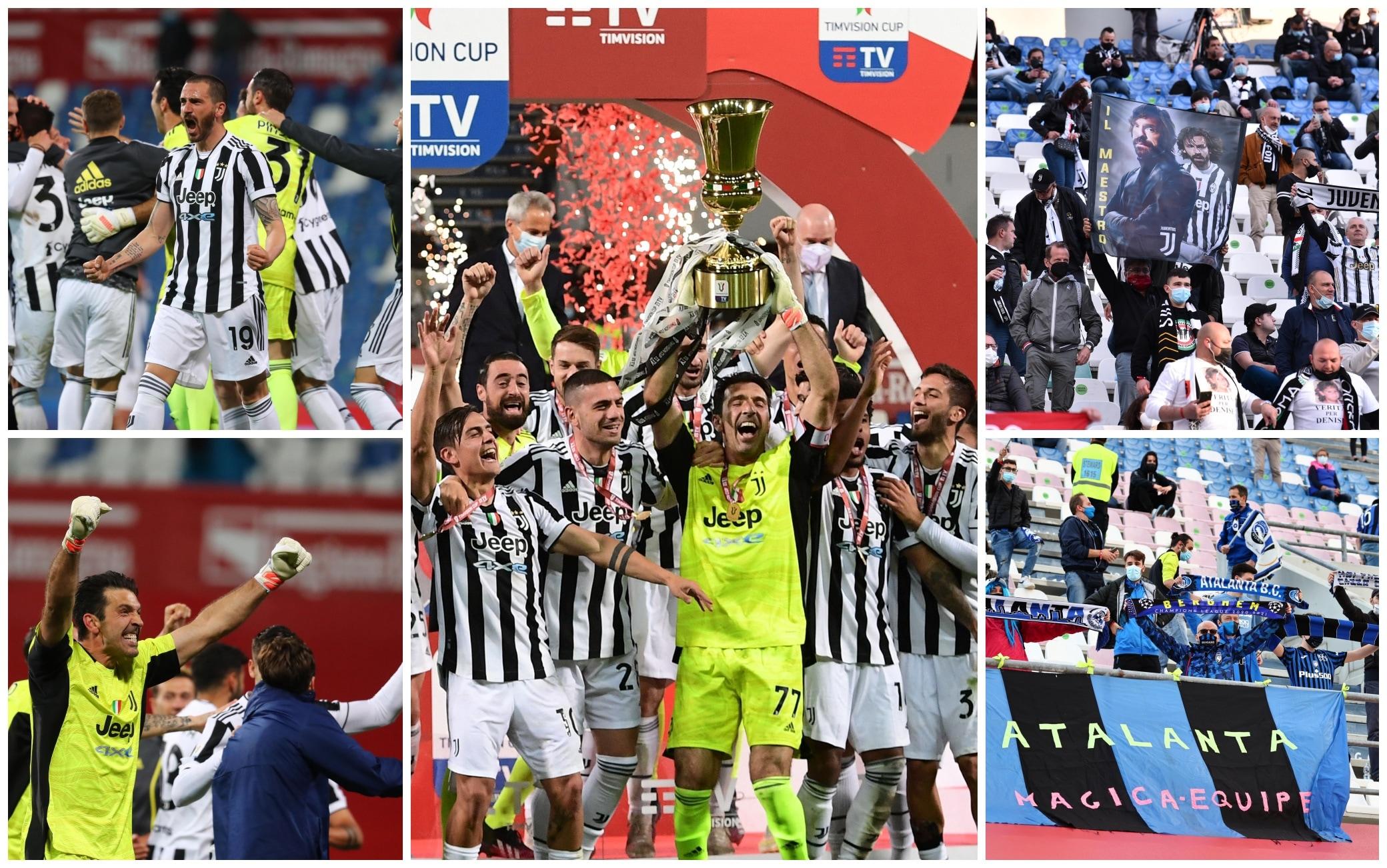 Finale Coppa Italia, vince la Juventus: 2-1 all'Atalanta. 4mila tifosi  tornano allo stadio. FOTO | Sky TG24
