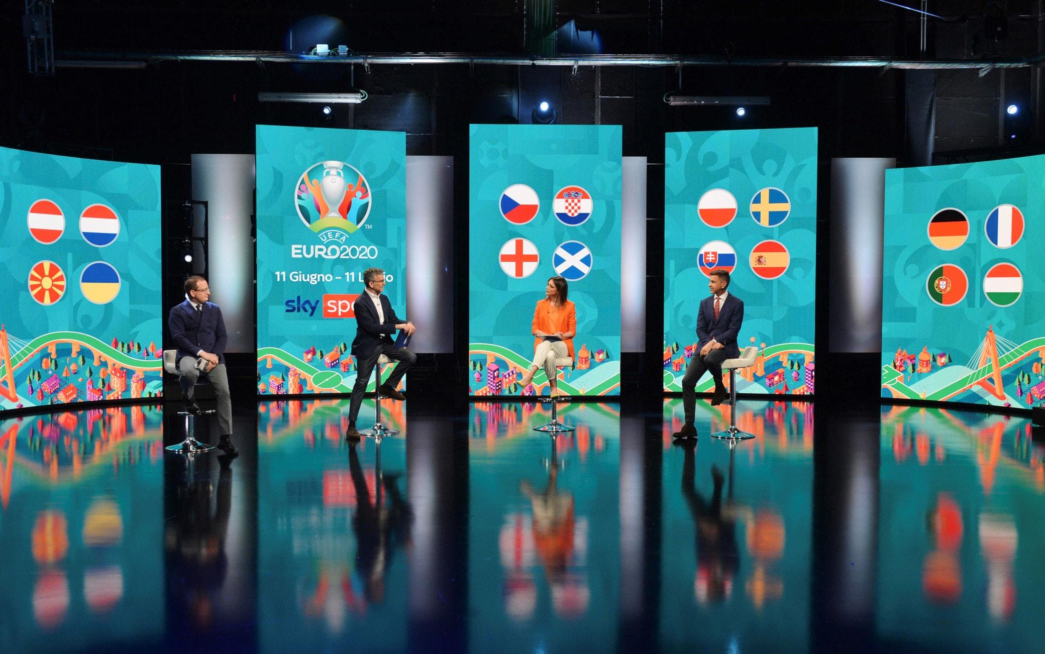 La presentazione della programmazione di Sky per Euro 2020