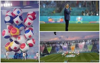 La cerimonia di apertura allo stadio Olimpico di Roma, prima di Turchia-Italia