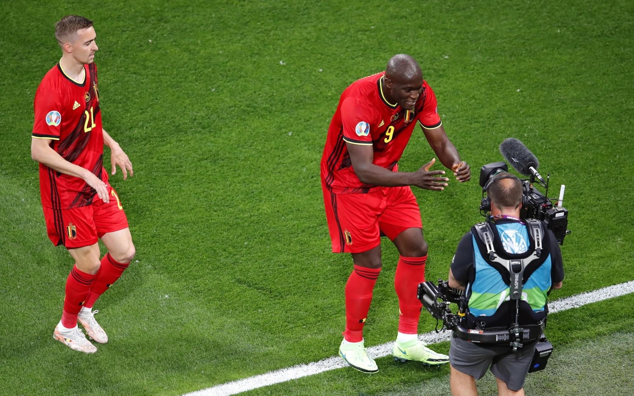 Lukaku dedica a Eriksen il suo gol in Belgio-Russia