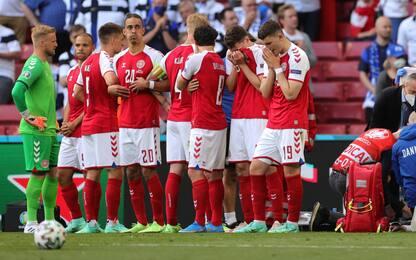 Euro 2020, malore in campo per Eriksen: sospesa Danimarca-Finlandia
