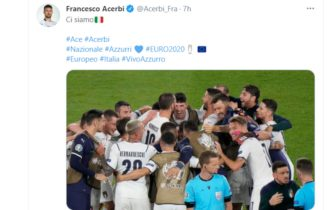 Il tweet di Francesco Acerbi dopo la vittoria dell'Italia sulla Turchia a Euro 2020