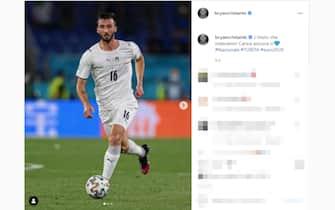 Il post su Instagram di Bryan Cristante dopo la vittoria dell'Italia sulla Turchia a Euro 2020