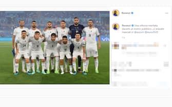 Il post su Instagram di Alessandro Florenzi dopo la vittoria dell'Italia sulla Turchia a Euro 2020