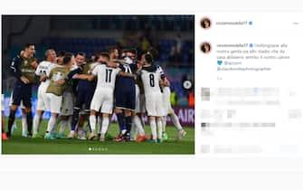 Il post su Instagram di Ciro Immobile dopo la vittoria dell'Italia sulla Turchia a Euro 2020
