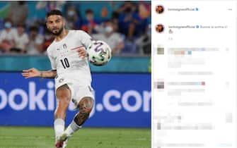 Il post su Instagram di Lorenzo Insigne dopo la vittoria dell'Italia sulla Turchia a Euro 2020