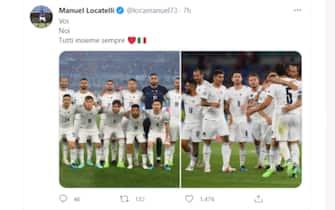Il tweet di Manuel Locatelli dopo la vittoria dell'Italia sulla Turchia a Euro 2020