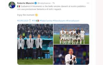 Il tweet di Roberto Mancini dopo Turchia-Italia