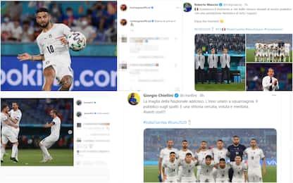 Euro 2020, l'esultanza dell'Italia sui social dopo la vittoria. FOTO