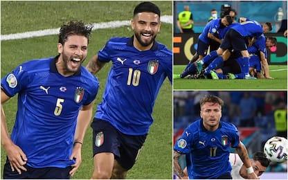 Euro 2020, Italia-Svizzera 3-0, doppietta Locatelli e Immobile. FOTO