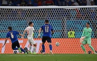Locatelli segna l'1-0 in Italia-Svizzera