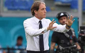 Il ct della nazionale Roberto-Mancini durante Italia-Galles