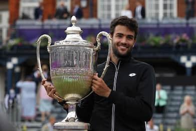 Tennis, Matteo Berrettini vince il torneo del Queen's
