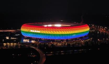 Per Germania-Ungheria l'Allianz potrebbe tingersi di arcobaleno