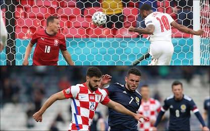 Euro 2020, Croazia-Scozia 1-1 e Rep. Ceca-Inghilterra 0-1. DIRETTA