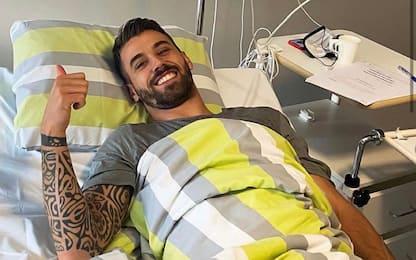 """Calcio, operazione riuscita per Spinazzola: """"Ci vediamo presto"""""""