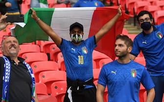 Tifosi italiani a Wembley durante una partita di Euro 2020