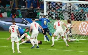 Il gol di Bonucci al 67' della finale di Euro 2020 contro l'Inghilterra