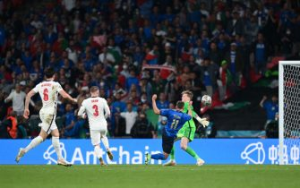 Un'azione di Berardi durante la finale di Euro 2020