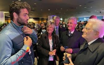 Londra - Il Presidente della Repubblica Sergio Mattarella con Matteo Berrettini alla finale degli europei di calcio, oggi 11 luglio 2021. (Ufficio per la Stampa e la Comunicazione della Presidenza della Repubblica)