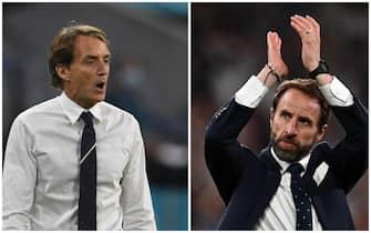 Roberto Mancini e Gareth Southgate, ct di Italia e Inghilterra