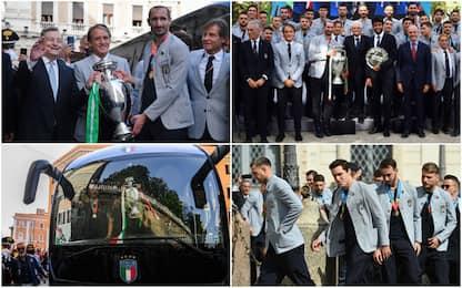 Euro 2020, Italia ricevuta da Mattarella e Draghi dopo trionfo