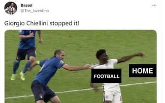 meme su italia inghilterra, l'intervento di chiellini su saka