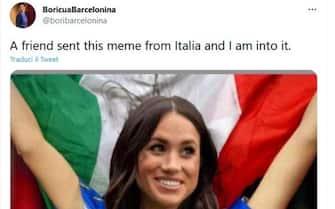 meme su italia inghilterra con Meghan Markle