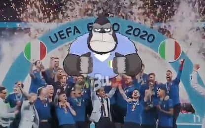 Chiellini in versione gorilla, il video postato dal capitano azzurro