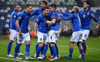 <<enter caption here>> during the UEFA Nations League group stage match between Italy and Poland at Mapei Stadium - Citta' del Tricolore on November 15, 2020 in Reggio nell'Emilia, Italy.