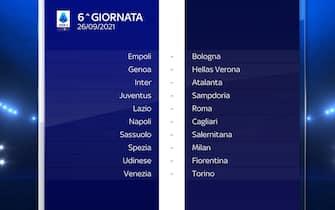 Serie A Calendario stagione 2021/2022 sesta giornata