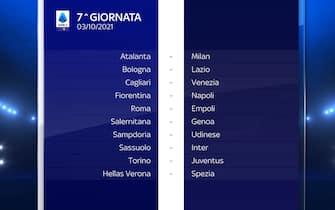 Serie A Calendario stagione 2021/2022 settima giornata
