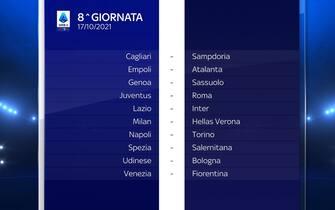 Serie A Calendario stagione 2021/2022 ottava giornata
