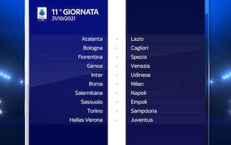 Serie A Calendario stagione 2021/2022 undicesima giornata