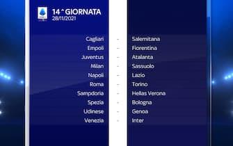 Serie A Calendario stagione 2021/2022 quattordicesima giornata