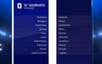 Serie A Calendario stagione 2021/2022 quindicesima giornata